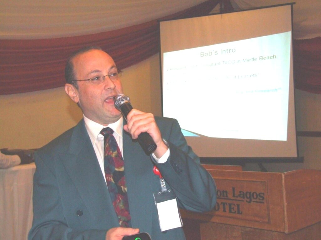 Dr.Bob Baron at AIB Aviation Safety Conference, Lagos, Nigeria